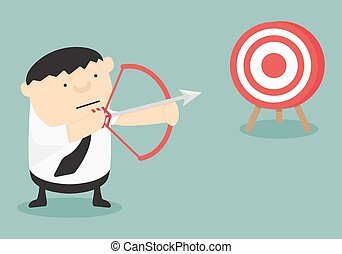 Get Target ,Vector cartoon