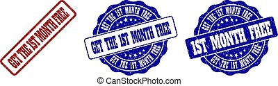 GET THE 1ST MONTH FREE Scratched Stamp Seals