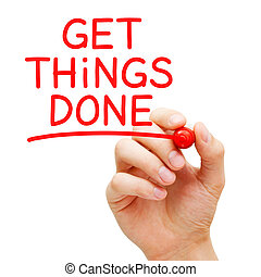 Get Things Done Red Marker Concept