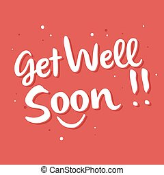 Get Well Soon Typography Lettering