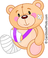 Get well Teddy Bear - Very cute Sick Teddy Bear. Get well