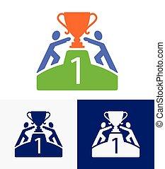 get winner cup vector logo