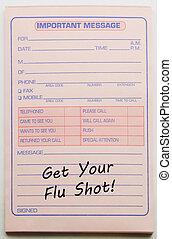 Get your Flu Shot Important Message