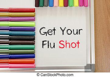 Get your flu shot text concept