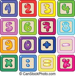 getal, blokjes