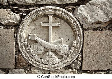gethsemane, 石, embossment
