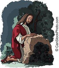 gethsemane, jardim, jesus., oração