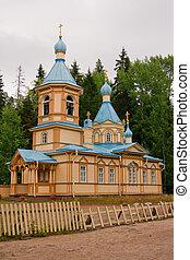 Gethsemane monastery on Valaam Island, Russia, Karelia
