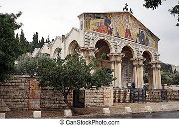 Gethsemane church in Jerusalem, Israel...