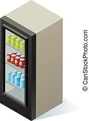 getränk, kühlcontainer