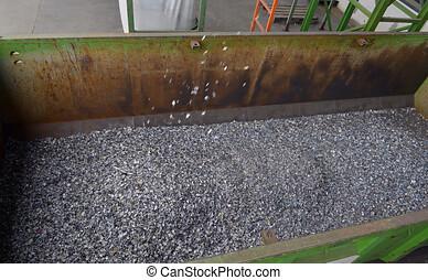 getrennt, pflanze, schnitt, mülltrennung, plastik, wiederverwertet, behälter, klein, verschwendung, stücke