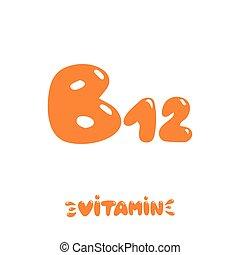 getrokken, b12, vitamine, hand