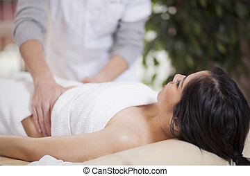 Getting a massage at home