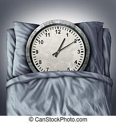 Getting Enough Sleep - Getting enough sleep concept or...