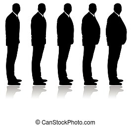 Getting fatter silhouette