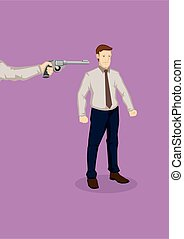Getting Fired Cartoon Vector Illustration - Hand from the ...