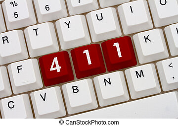 Getting help online, A close-up of a keyboard with red...