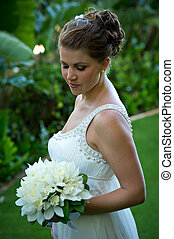 Getting Married. Beautiful young bride.