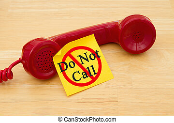 Getting on the do not call list
