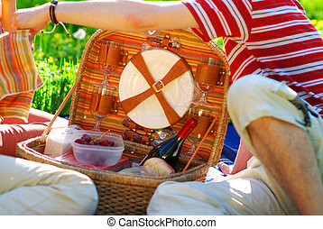 Getting ready for picnic