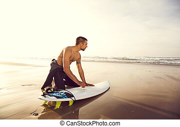 Getting ready for surf