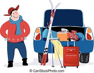 Getting ready to a ski trip