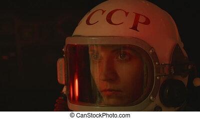 Getting Sick Cosmonaut - A retro soviet cosmonaut (USSR or...
