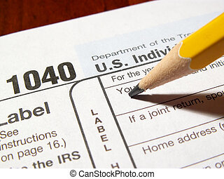 getting started - filling in name on income tax form