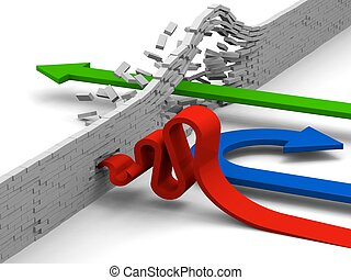 Getting through obstacle - Failing, giving up or breaking...