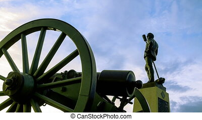 Gettysburg Civil War Statue Time-la - Magic hour time-lapse...