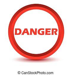 gevaar, rood, pictogram