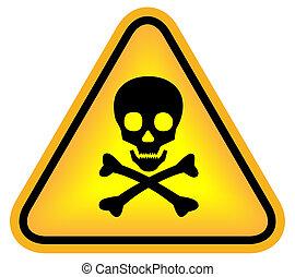 gevaar, schedel, meldingsbord