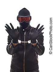 gevaarlijk, handcuffs, crimineel