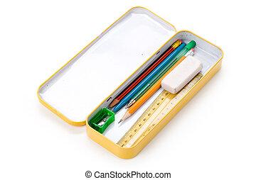 geval, potlood, metaal