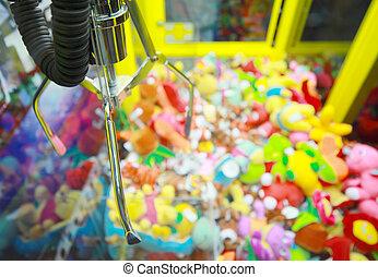 gevangen nemen, hoop, arcade, machine, achtergrond,...