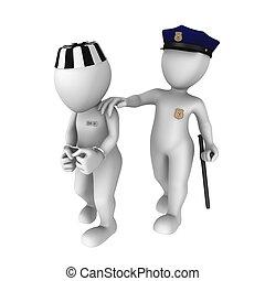 gevangene, escorts, politieagent