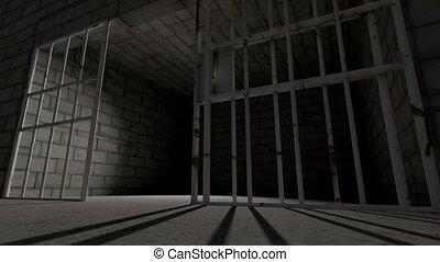 gevangeniscel, staaf, cel, sluiting