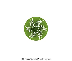 gevarieerd, bladeren, witte , achtergrond., vecto, groene, pictogram, vrijstaand, plants., bomen, gedaantes