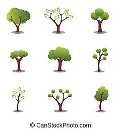 gevarieerd, bomen
