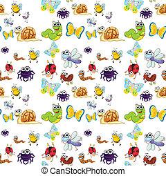 gevarieerd, insecten