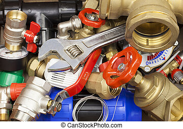 gevarieerd, loodgieterswerk, accessoires