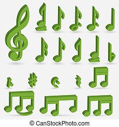 gevarieerd, muzikale aantekeningen