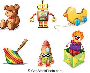 gevarieerd, speelgoed