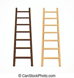 gevarieerd, vector, set, ladders.