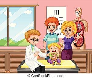 geven, arts, vaccin, geitje