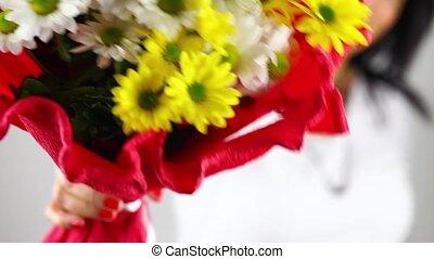 geven, bloemen, madeliefje