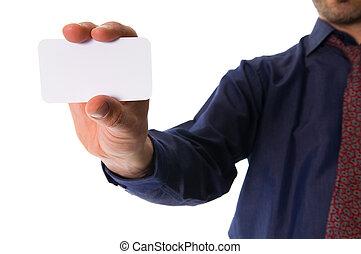 geven, een, kaart