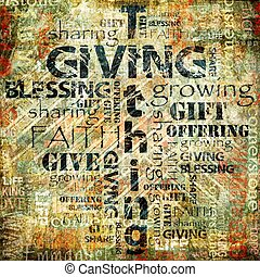 geven, en, tithing, achtergrond