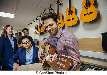 geven, les, muziek