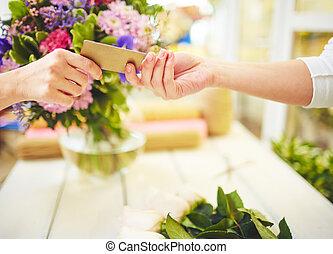 geven, plastice kaart